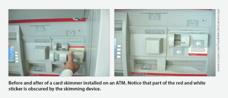 Skimmer before and after