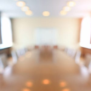 Defocused image of a conference room