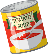 Illustration of a Can of Tomato Soup