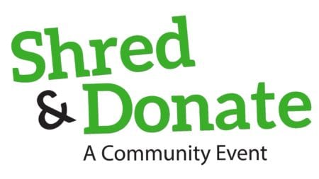 Shred and Donate event title
